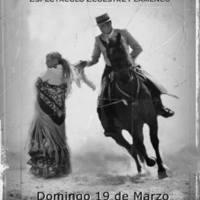 Mariluz García. Espectáculo ecuestre flamenco