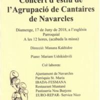 Concert d'estiu de l'Agrupació de Cantaires de Navarcles 2018