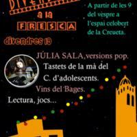 Divendres a la fresca amb Júlia Sala, versions pop