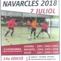 12 hores FUTSAL Navarcles 2018. 14a. edició