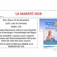 La Marató de TV3. Xerrada informativa a la residència d'avis 2018