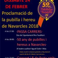 Proclamació de la pubilla i hereu de Navarcles 2018