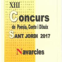 XIII Concurs de Poesia, Conte i Dibuix Sant Jordi 2017