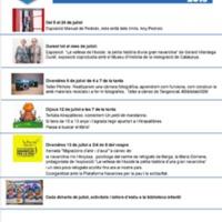 Agenda juliol 2018 Biblioteca