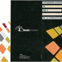 Catorzena convocatòria de beques Fesmana, per a postgraus, màsters i doctorats de la Fundació Ibada 2018