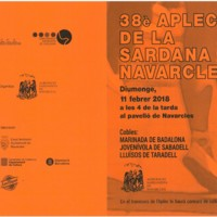 38è Aplec de la Sardana de Navarcles 2018. Programa