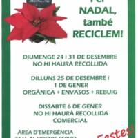 Per Nadal, també reciclem!