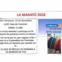La Marató 2018. Realització de polseres contra el càncer 2018
