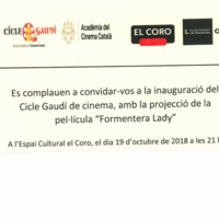 Invitació inauguració del Cicle Gaudí de cinema. Octubre 2018