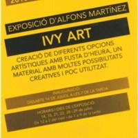 """Exposició d'Alfons Martínez """"Ivy Art"""". 2018"""