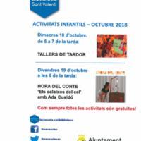 Activitats infantils de la biblioteca octubre 2018