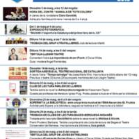 Agenda maig 2018. Biblioteca S. Valentí