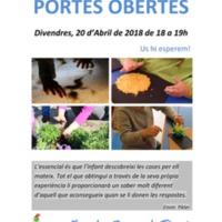 Jornada de portes obertes de l'Escola Bressol Tinet 2018
