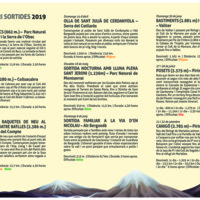 Centre excursionista de Navarcles . Programació 2019