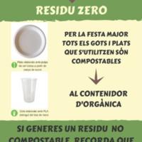 Eco Festa Major. Residu zero agost 2018