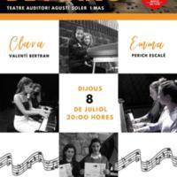 Concert extraordinari de piano de Clara Valentí i Emma Perich 2021