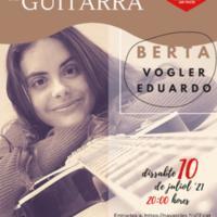 Concert extraordinari de guitarra de Berta Vogler 2021