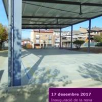 Inauguració de la nova pista esportiva coberta de l'Escola Verda