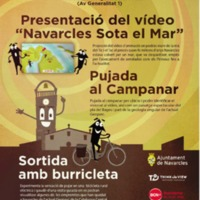 """Presentació del vídeo """"Navarcles sota el mar"""" 2018"""